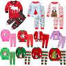 2Pcs Kids Boys Girls Christmas Pajamas Sleepwear Nightwear Xmas PJ's Outfits Set