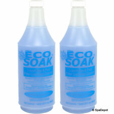 Eco Soak Filter Cleaner for Hot Tub & Spa - Earth Friendly - 2 x 32oz Bottles