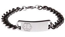 Stainless Steel Classic Bracelet Medical ID Identify Alert Jewellery Mediband
