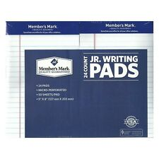 Member's Mark  Perforated Writing Pad  5 x 8  White  24 ct.