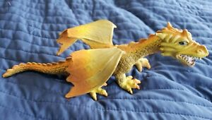 2005 Dragon Figurine Yellow And Orange 11 Inches Long