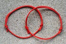 Set of 2 Bracelets Anklets / Kabbalah Lucky Red String Bracelet against Evil Eye