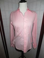 RALPH LAUREN Black Label Womens Button Dress Shirt Blouse,Size 8 PINK Cotton