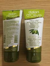DALAN d'olive olive oil cream hand & body moisturizer 3 x 75ml . {Free uk p&p}