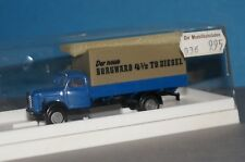 "BOX10 BREKINA 1:87 4300 Borgward B 4500 Flatbed Truck "" the New Borgward "" -ovp"