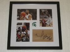 Nick Ward Signed Floor-piece Framed Michigan State Basketball COA