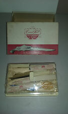 Carvel Hall BRIDDELL 12 Fish & Game Steak Knifes New Vintage Case Box RARE