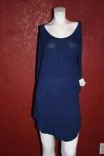 ZARA TRAFALUC MASQUE BASICS DRESS BLUE  3/4 SLEEVE VISCOSE BEND  SIZE M