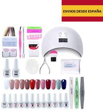 Kit completo para uñas semipermanentes mujer lámpara UV LED