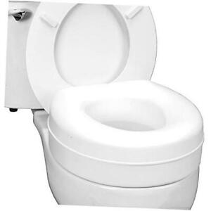Portable Elevated Raised Toilet Seat Riser that fits Most Standard Current