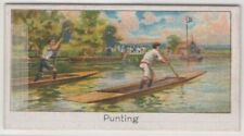 Amateur Singles Punt Boat Racing Championship 1922 1920s Trade Ad Card