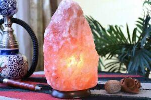 SALT LAMP HIMALAYAN  CRYSTAL PINK ROCK SALT LAMP NATURAL HEALING 100% GENUINE