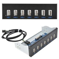 9Pin to 7 Port USB2.0 Hub 5.25inch CD-ROM Drive Bay CD ROM Front Panel for PC CM