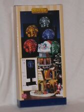 "NEW LEMAX Christmas Village ""Blue Color Fireworks"" Background Light Accessory"
