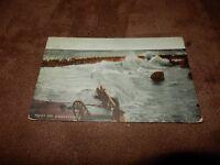 1907 Kent postcard - Broadstairs - Rough seas