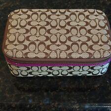 COACH Jewelry Box Khaki with Purple VERY RARE NWOT
