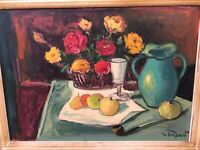 🔥 Antique Cubist Impressionist Still Life Oil Painting - Braque, Gris