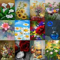 5D DIY Diamond Painting Flowers Embroidery Cross Crafts Stitch Kit Home Decor #L