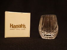 Vintage Harrah's Casino Lead Crystal Cordial Glasses, Set of 4 NIB