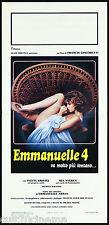 EMMANUELLE 4 LOCANDINA CINEMA FILM SYLVIA KRISTEL NYGREN EROTICO PLAYBILL POSTER