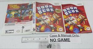 Boom Blox Games Nintendo Wii Case Manual NO GAME Blocks