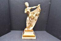 "Art Deco RESIN WOMAN Lady Dancer 11"" Statue Sculpture Seymour Mann Figurine."