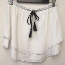 Free People Ladies Skirt Size S/P White Layered Mini Skirt Boho Hippy Festival