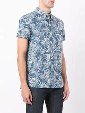 6792cd8eff Levi s Mens Navy Short Sleeve Sunset Pocket Printed Button Down Shirt S