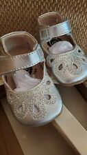 LIVIE & LUCA 0-6 Platinum Shimmer smooth leather Petal New Silver
