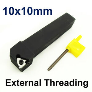 Carbide Tip CNC External Threading Lathe Tool Holder SER 1010 H11 10mm Shank