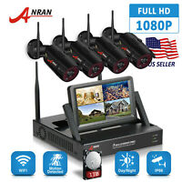 """ANRAN 2.0MP WiFi Camera Security System Outdoor CCTV 7""""Monitor Night Vision 1TB"""