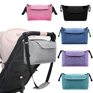Pram Organsier Baby Stroller Caddy Buggy Handle Storage Bag with Shouler Belt