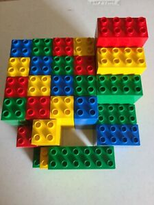Vintage Lego Duplo Blocks assortment - 107 pcs