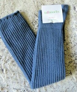 BNWT Free People Tabbisocks Ribbed Over The Knee Socks One Size Steel Blue