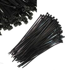 100 pcs 4mm X 300mm Black High Quality Cable Ties Nylon Cable Zip self-locking