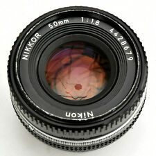 Nikon Nikkor 50mm f/1.8 AIS 'Pancake' Man'l Focus Lens. Exc+. See Test Images.