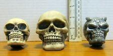 Skull Mini Head Ornament Lot ( 3 Different)  NICE!!!!