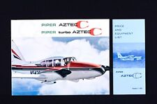 PIPER Vintage AZTEC C / Turbo Brochure & Price Sheet 1967 Color Rare USA Gift