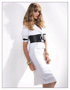 NWT BEBE LINEN BLAZER &  SKIRT DRESS SUIT JACKET SET SZ XS 0 White