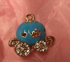 BLUE CENERENTOLA Zucca Carrozza Charm abbellimento Artigianato Gioielli Fiocco rendendo