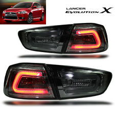LED TAIL LIGHT SMOKE BLACK LAMP MITSUBISHI Evolution 10 X LANCER EX 2008-2015 CJ