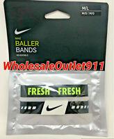 New Nike Set of 2 (Pair) Baller Bands Medium Large Reversible Bracelets #C