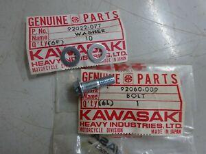 KAWASAKI NOS OIL PUMP BANJO BOLT & WASHERS H2 H1 S1 S2 S3 KH250 KH400 KH500
