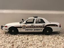 Coffee County Tennessee custom sheriff's diecast car FCV New Motormax 1:24 scale