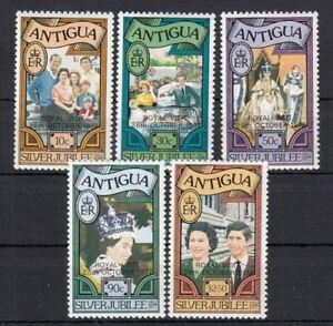 (85516) Antigua MNH OVERPRINT PERF 12 Queen Royal Visit Silver Jubilee 1977