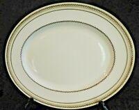 "Royal Doulton THE REPTON Laurel 15"" Oval Platter V 1705 Gold Trim Turkey"