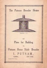 PLANS FOR BUILDING THE PUTNAM HOME MADE BROODER - ELMIRA - NEW YORK - 1920