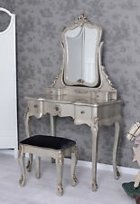 Poudreuse Dressing Table Silver Boudoir with Mirror