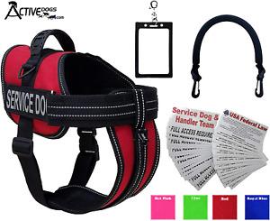 Activedogs Service Dog Vest Harness + Free Clip-on Bridge Handle + Free Clip-on