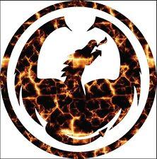 Dragon optics decal sticker digital fire techno skateboard snowboard